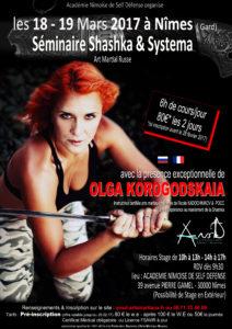 Stage de Systema et Shashka avec Olga Korogodskaya @ Ansd | Nîmes | Occitanie | France