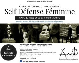 Self défense féminine @ Academie Nimoise de Self Defense | Nîmes | Occitanie | France