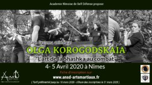 ATTENTION STAGE REPOUSSE A JUILLET 2020 OLGA KOROGODSKAIA A NIMES: STAGE DE SHASHKA @ ANSD